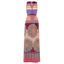 Buy Warehouse Pattern Silk Dial Print Dress, Pink Pattern Online at johnlewis.com
