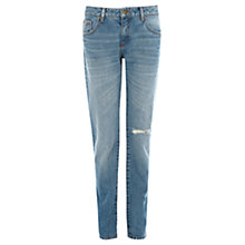 Buy Warehouse Denim Slash Girlfriend Jeans, Mid Wash Online at johnlewis.com