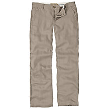 Buy Fat Face Tapered Linen-mix Chinos, Rock Online at johnlewis.com