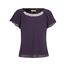 Buy Jacques Vert Bead Neck Blouse Online at johnlewis.com