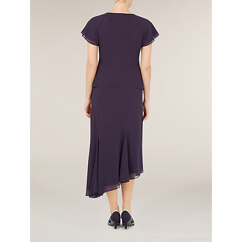 Buy Jacques Vert Bead Neck Blouse, Dark Purple Online at johnlewis.com
