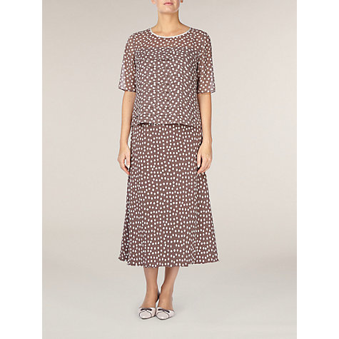 Buy Jacques Vert Spot Chiffon Skirt, Light Brown Online at johnlewis.com