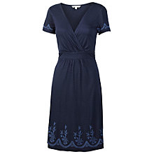 Buy Fat Face Camille Embroidered Dress, Navy Online at johnlewis.com