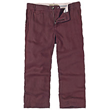 Buy Fat Face Linen Cropped Trousers, Plum Online at johnlewis.com