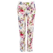 Buy Warehouse Abstract Floral Trousers, Multi Online at johnlewis.com