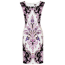 Buy Phase Eight Rhianon Paisley Dress, Black/Orchid Online at johnlewis.com