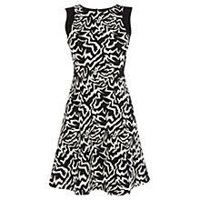 Buy Warehouse Tribal Jacquard Dress, Black Pattern Online at johnlewis.com