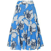 Buy Phase Eight Poppy Print Skirt, Azure/White Online at johnlewis.com