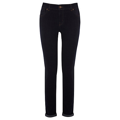 Buy Oasis Rinse Wash Cherry Crop Skinny Jeans, Denim Online at johnlewis.com