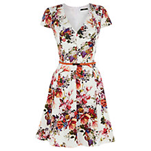 Buy Oasis Botanical Garden Skater Dress, Multi/White Online at johnlewis.com