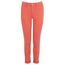 Buy Oasis Coloured Jade Crop Superskinny Jeans, Coral Online at johnlewis.com