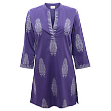 Buy East Igot Print Kurta Top, Amethyst Online at johnlewis.com