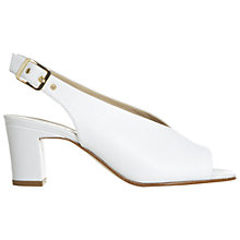 Buy Hobbs Kali Sandals, White Online at johnlewis.com