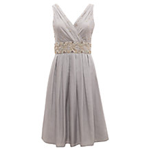 Buy East Pearl Embellished Dress, Mist Online at johnlewis.com