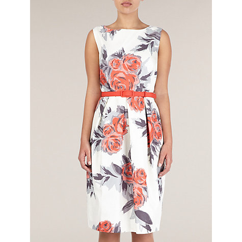 Buy Precis Petite Floral Print Shift Dress, Coral Online at johnlewis.com