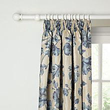 Buy John Lewis Carvel Lined Pencil Pleat Curtains, Blue Online at johnlewis.com