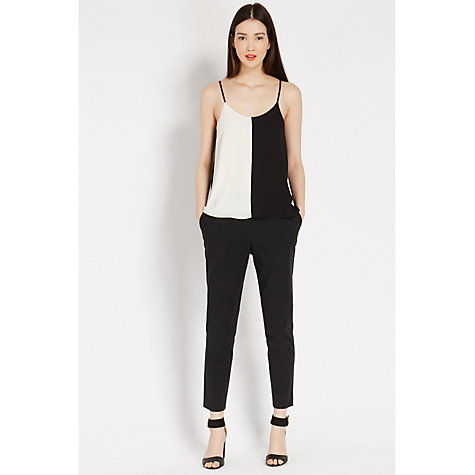 Buy Oasis Summer Jacquard Trousers, Black Online at johnlewis.com