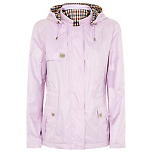 Buy Aquascutum Club Check Reversible Hooded Jacket, Lilac Online at johnlewis.com