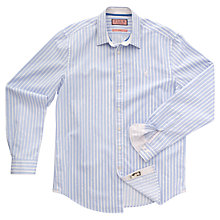 Buy Thomas Pink Gallardo Striped Shirt, Light Blue/White Online at johnlewis.com