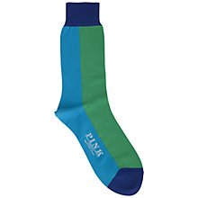 Buy Thomas Pink Wyve Socks, Turquoise/Green Online at johnlewis.com