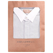 Buy JOHN LEWIS & Co. Cabot Stripe Oxford Shirt, Neutral/White Online at johnlewis.com