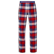 Buy Emporio Armani Tartan Cotton Lounge Pants, Red Online at johnlewis.com