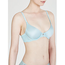 Buy DKNY Signature Lace Underwired Demi Bra, Seascape / Platinum Online at johnlewis.com