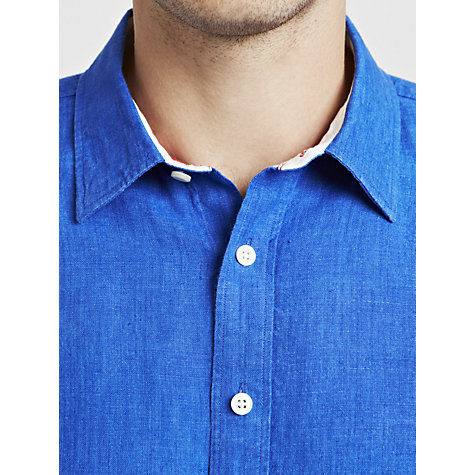 Buy Thomas Pink Malcolm Linen Shirt, Blue Online at johnlewis.com