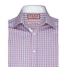 Buy Thomas Pink Danner Check XL Sleeve Shirt, Pale Pink/White Online at johnlewis.com
