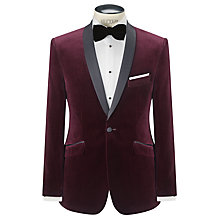 Buy John Lewis Velvet Shawl Collar Jacket, Claret Online at johnlewis.com