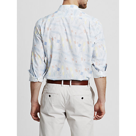 Buy Thomas Pink Fairman Washed Cotton Shirt, Navy/White Online at johnlewis.com