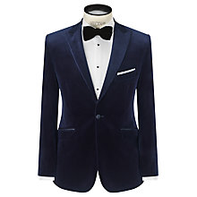 Buy John Lewis Velvet Peak Lapel Jacket, Midnight Blue Online at johnlewis.com