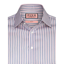 Buy Thomas Pink Weaver Stripe Double Cuff Shirt, Pink Online at johnlewis.com