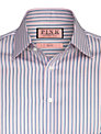 Thomas Pink Weaver Stripe Double Cuff Shirt, Pink