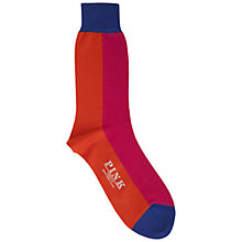 Buy Thomas Pink Wyve Socks, Orange/Pink Online at johnlewis.com