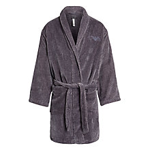 Buy Emporio Armani Soft Cotton Robe, Charcoal Online at johnlewis.com