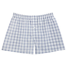 Buy Thomas Pink Brentford Check Boxers, Blue/White Online at johnlewis.com