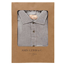 Buy JOHN LEWIS & Co. Walton Herringbone Shirt, Taupe Online at johnlewis.com