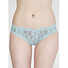 Buy DKNY Signature Lace Thong, Seascape / Platinum Online at johnlewis.com