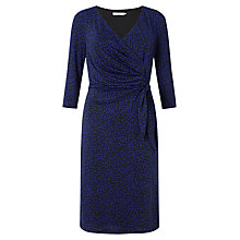 Buy John Lewis Capsule Collection Pebble Print Jersey Dress, Royal Blue/Navy Online at johnlewis.com
