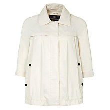 Buy Aquascutum Raglan A-Line Parker, Beige Online at johnlewis.com
