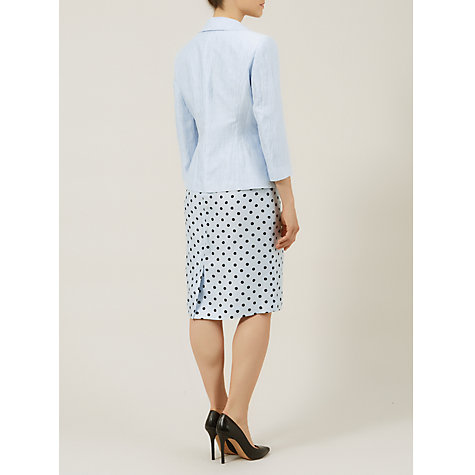 Buy Precis Petite Crinkle Jacket, Powder Blue Online at johnlewis.com