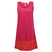 Buy East Colour Block Linen Dress, Azalea Online at johnlewis.com