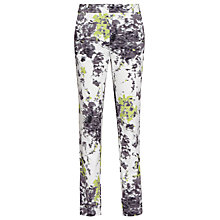 Buy Reiss Olivia Print Trousers, Green Online at johnlewis.com
