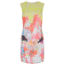 Buy Warehouse Fluro Print Jacquard Dress, Multi Online at johnlewis.com