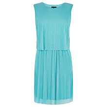 Buy Warehouse Two Layer Pleated Dress, Mint Online at johnlewis.com