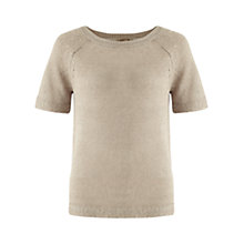 Buy Jigsaw Washed Linen Neat Sweater Online at johnlewis.com