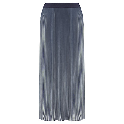 Buy Jigsaw Stripe Pleat Skirt, Indigo Online at johnlewis.com