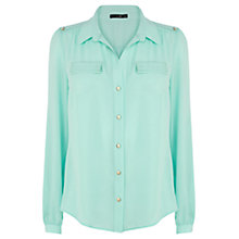 Buy Oasis Bianca Roll Sleeve Shirt, Blue Online at johnlewis.com
