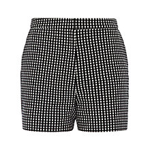 Buy Reiss Winston Tailored Shorts, Black White Online at johnlewis.com